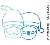 santa claus couple cartoon... | Shutterstock .eps vector #727156651