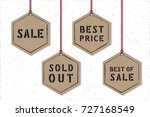 shopping tags sale best price... | Shutterstock .eps vector #727168549