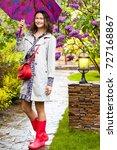beautiful smiling european... | Shutterstock . vector #727168867