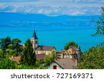 beautiful village neuvecelle... | Shutterstock . vector #727169371