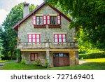beautiful village neuvecelle... | Shutterstock . vector #727169401