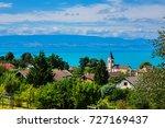 beautiful village neuvecelle... | Shutterstock . vector #727169437