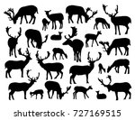 noble deer silhouettes set... | Shutterstock .eps vector #727169515