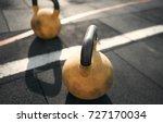 close up. sport equipment.... | Shutterstock . vector #727170034