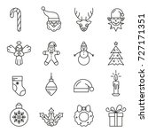 set of christmas elements.... | Shutterstock .eps vector #727171351