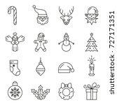 set of christmas elements.... | Shutterstock .eps vector #727171351