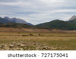 landscape of mountains. the... | Shutterstock . vector #727175041