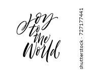 joy to the world phrase.... | Shutterstock .eps vector #727177441