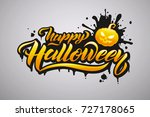 happy halloween vector... | Shutterstock .eps vector #727178065