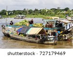 floating market   mekong river  ... | Shutterstock . vector #727179469