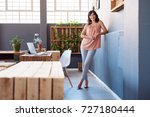 portrait of a casually dressed... | Shutterstock . vector #727180444
