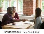 happy smiling african american... | Shutterstock . vector #727181119