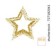 golden star vector banner on... | Shutterstock .eps vector #727182061