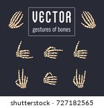 different gestures from the... | Shutterstock .eps vector #727182565