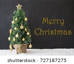 christmas tree  merry christmas ... | Shutterstock . vector #727187275