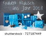 christmas gifts  snow  guten... | Shutterstock . vector #727187449