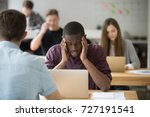 stressed african american...   Shutterstock . vector #727191541