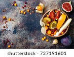 fall breakfast bowl with... | Shutterstock . vector #727191601