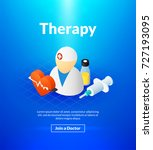 therapy poster of isometric... | Shutterstock .eps vector #727193095