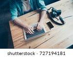 top up shot of graphic designer ... | Shutterstock . vector #727194181