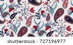 seamless floral pattern in... | Shutterstock .eps vector #727196977
