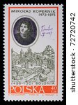poland   circa 1970  a stamp is ... | Shutterstock . vector #72720742