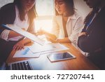 business people analyzing...   Shutterstock . vector #727207441