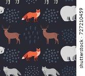 seamless hand drawn pattern... | Shutterstock .eps vector #727210459