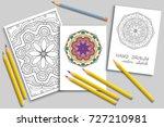 mandala geometric floral... | Shutterstock .eps vector #727210981