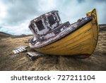 Old Fishing Boat At Hnjoti...