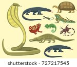reptile and amphibian colorful... | Shutterstock .eps vector #727217545