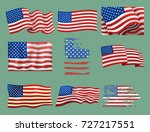 independence day usa flags... | Shutterstock .eps vector #727217551