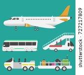 plane airport transport symbols ...   Shutterstock .eps vector #727217809