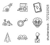 teaching a child icons set.... | Shutterstock .eps vector #727222525