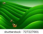 people keeping tea leaves... | Shutterstock .eps vector #727227001