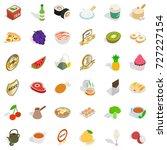 kitchen icons set. isometric... | Shutterstock .eps vector #727227154