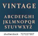 vector of vintage colorful font ...   Shutterstock .eps vector #727227307