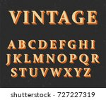 vector of vintage colorful font ... | Shutterstock .eps vector #727227319