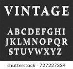 vector of vintage colorful font ...   Shutterstock .eps vector #727227334