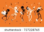 vector orange dancing and... | Shutterstock .eps vector #727228765