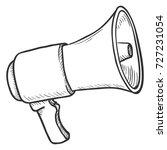 vector single sketch... | Shutterstock .eps vector #727231054