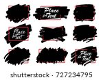 vector black paint  ink brush... | Shutterstock .eps vector #727234795