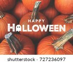 Happy halloween typography with ...