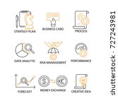 modern flat thin line icon set... | Shutterstock .eps vector #727243981