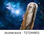 ancient stone ritual idol ... | Shutterstock . vector #727244851