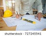 construction engineering.... | Shutterstock . vector #727245541