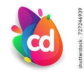 letter cd logo with colorful... | Shutterstock .eps vector #727246939