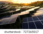 solar panels  solar cell  in... | Shutterstock . vector #727265017