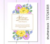 vintage delicate invitation...   Shutterstock . vector #727265305