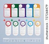 infographics template design... | Shutterstock .eps vector #727268479